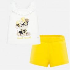 ~Mayoral Infant Girls Short Set - Yellow