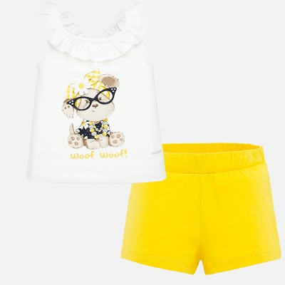 ~Mayoral Infant Girls Short Set - Yellow