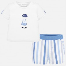 Mayoral Baby Boys Short Set - Blue