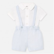 Mayoral Baby Boys Dungaree Set - Pale Blue