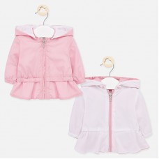 Mayoral Baby Girls Reversible Jacket - Pale Pink
