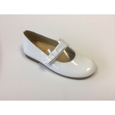 ~Andanines Girls Bow Shoe - White