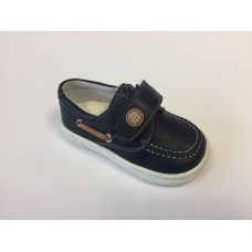 Andanines Boys Boat Shoe - Navy