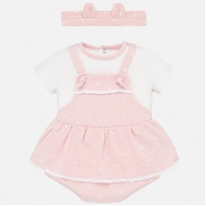 Mayoral Baby Girls Outfit With Hairband - Pink