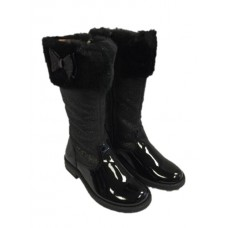 Andanines Girls Glitter Boot - Black