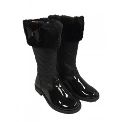 Andanines Girls Glitter Boot - Black