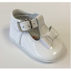 ~Andanines Baby Girls Bow Shoe - White