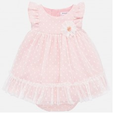 Mayoral Baby Girls Dress With Pants - Pink