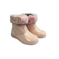 Andanines Girls Fur Ankle Boot - Pink