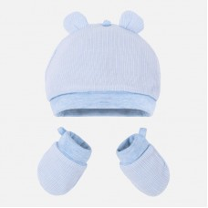 Mayoral Baby Boys Hat and Mittens - Sky