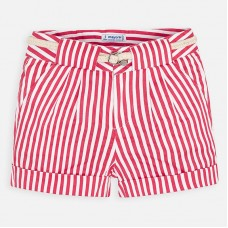 ~Mayoral Kids Girls Stripe Short - Red