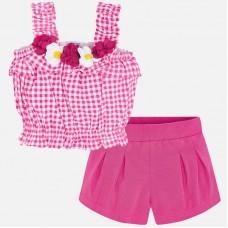 Mayoral Kids Girls Crop Top Set - Hot Pink
