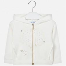 Mayoral Kids Girls Heart Zipper - Cream