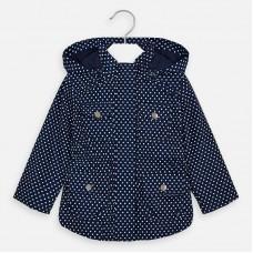 Mayoral Kids Girls Dot Jacket - Navy