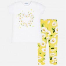 Mayoral Kids Girls Floral Legging Set - Yellow