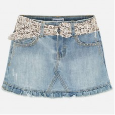 Mayoral Kids Girls Denim Skirt - Light Wash
