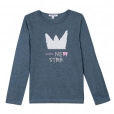 ~3Pommes Kids Girls Long Sleeved Top - Grey