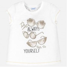 Mayoral Junior Girls T-Shirt - Cream
