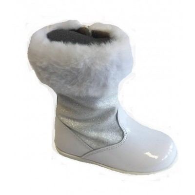 ~Andanines Girls Faux Fur Boot - White