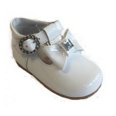 ~Andanines Girls Bow Shoe - White