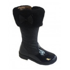 ~Andanines Girls Faux Fur Boot - Black