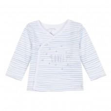 ~3Pommes Infant Boys Stripe Top - White