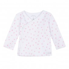 ~3Pommes Infant Girls Loveheart Top - White