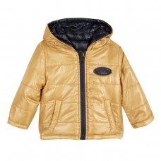 ~3Pommes Infant Boys Reversible Jacket - Navy/Gold