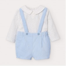 Mayoral Baby Boys Short & Braces Set - Pale Blue
