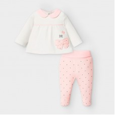 Mayoral Baby Girls 2 Piece Bow Set - Pink