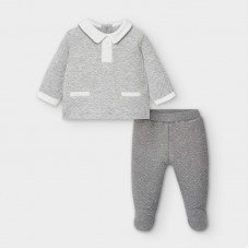 Mayoral Baby Boys 2 Piece Quilted Set - Grey