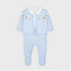 Mayoral Baby Boys 3 Piece Knit Set - Pale Blue