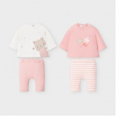 Mayoral Baby Girls 4 Piece Knit Set - Pink