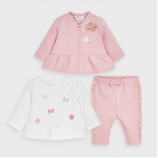 Mayoral Baby Girls 3 Piece Tracksuit Set - Pink