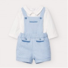 Mayoral Baby Boys Dungaree Short Set - Pale Blue