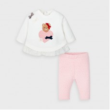 Mayoral Baby Girls 2 Piece Legging Set - Pink