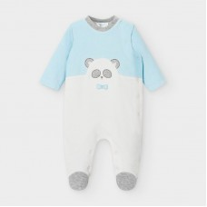 Mayoral Baby Boys Bear Onesie - Pale Blue