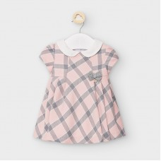 Mayoral Baby Girls Checked Dress - Pink