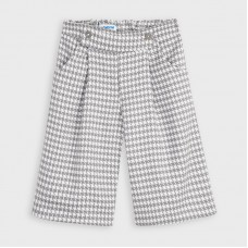 Mayoral Kids Girls Checked Calotte - Grey