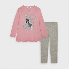 Mayoral Kids Girls Knit Legging Set - Pink