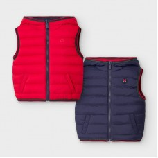 Mayoral Infant Boys Reversible Body Warmer - Navy/Red