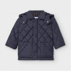 Mayoral Infant Boys Quilted Coat - Navy