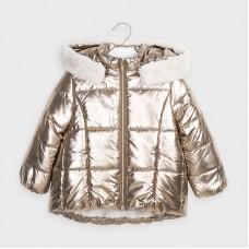 Mayoral Kids Girls Metallic Jacket - Gold