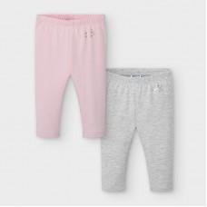 Mayoral Infant Girls 2 Legging Set - Pink/Grey