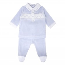 Pastels & Co Boys Baby Grow - Pale Blue