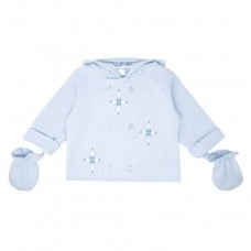Pastels & Co Boys Jacket With Mittens- Pale Blue