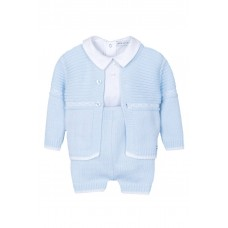 Jacob Matthews Boys Knitted 3 Piece Outfit - Blue