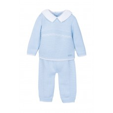 Jacob Matthews Boys Knitted 2 Piece Set - Blue