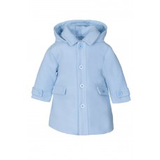 Jacob Matthews Boys Classic Coat - Pale Blue