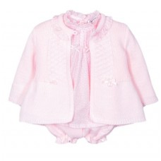 Jacob Matthews Girls 3 Piece Knitted Set - Pink